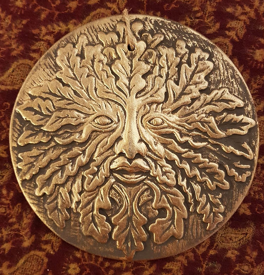 Green Man Wall Plaque
