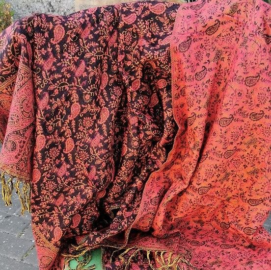 YK06 TIBET handloom Yak wool shawls 100x200 cms