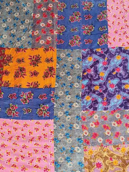 005 Indian Cotton patchwork Quilt Bedspread