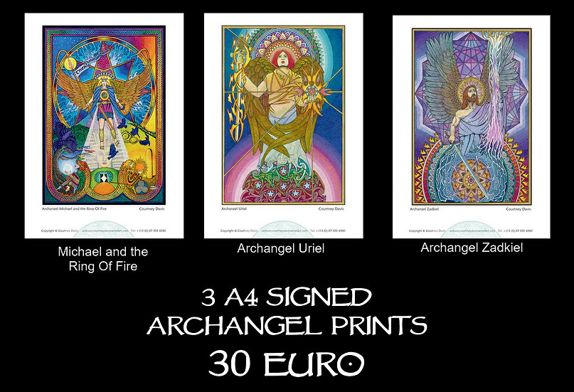 PA17 3 Archangels (Michael and the Ring Of Fire, Uriel, Zadkiel