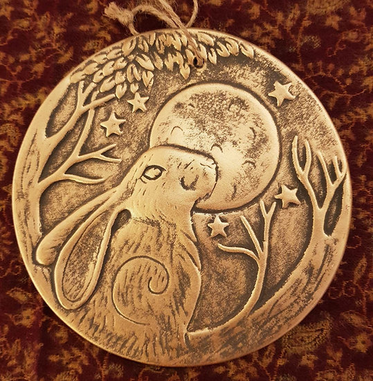 Moon Hare Plaque