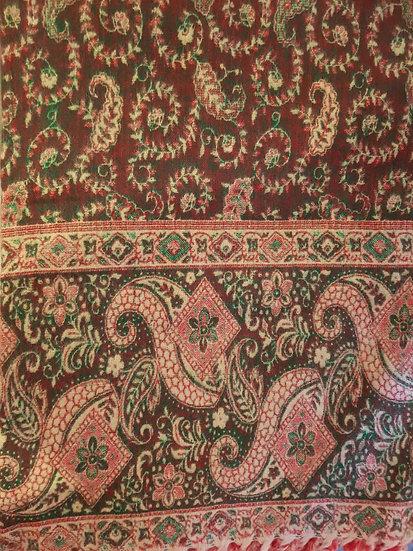 SH05 Tibetan Yak Wool Shawl 85x210cms