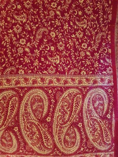 SH02 Tibetan Yak Wool Shawl 85x210cms