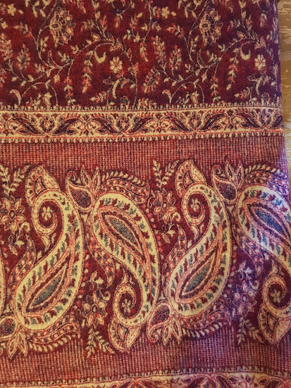 SH01 Tibetan Yak Wool Shawl 85x210cms