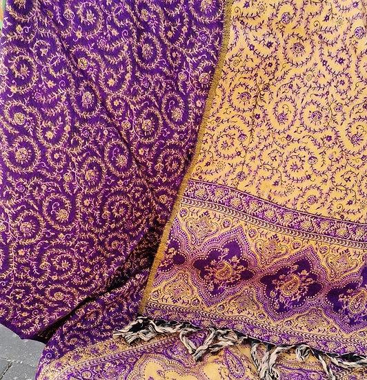 YK04 TIBET handloom Yak wool shawls 100x200 cms