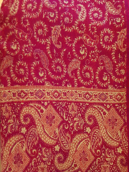 SH03 Tibetan Yak Wool Shawl 85x210cms