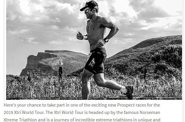 Promoção XTRI world tour com as prospect races 2019
