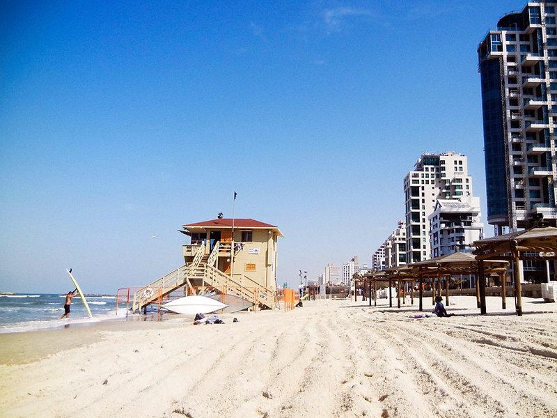 Tel Aviv Israel Strand Beach Mittelmeer Auswandern