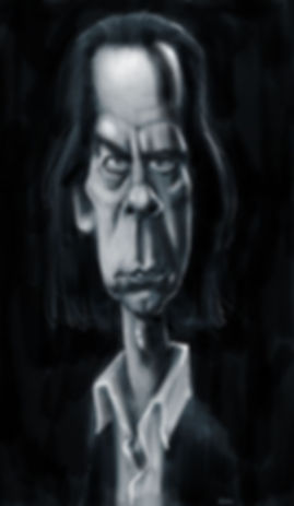 Caricature of Lupe by Stephen Case, hong Kong