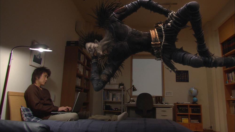 Light y Ryuk en 'Death Note'