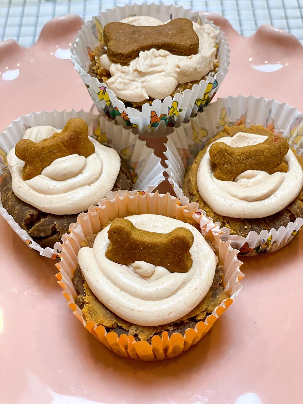 Cupcake Dog treats made with Dough ReMia's Doggie Dough