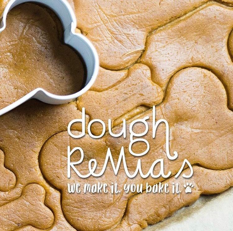 Doggie Dough Dough ReMia's bone shaped cookie cutter raw dough