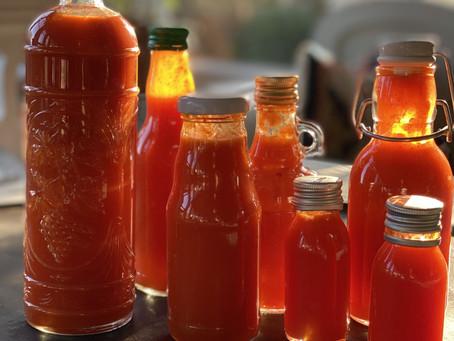 """Fermenterad sweet chilisås med mango recept från en glad """"surtant"""""""