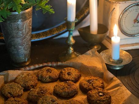 Chocolate Chip Cookies med blomkål och tahini
