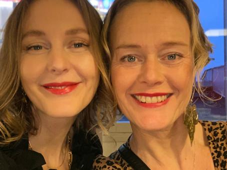 Systrarna Persson i Svt:s Morgonstudio