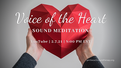 Voice of the Heart Sound Meditation 1 Fe