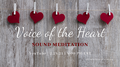 Voice of the Heart Sound Meditation 2 Fe