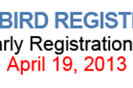 EARLY BIRD REGISTRATION