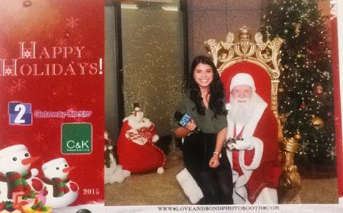 Interviewing Santa for NJTV News
