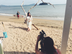 Filming on a Beach in Panama