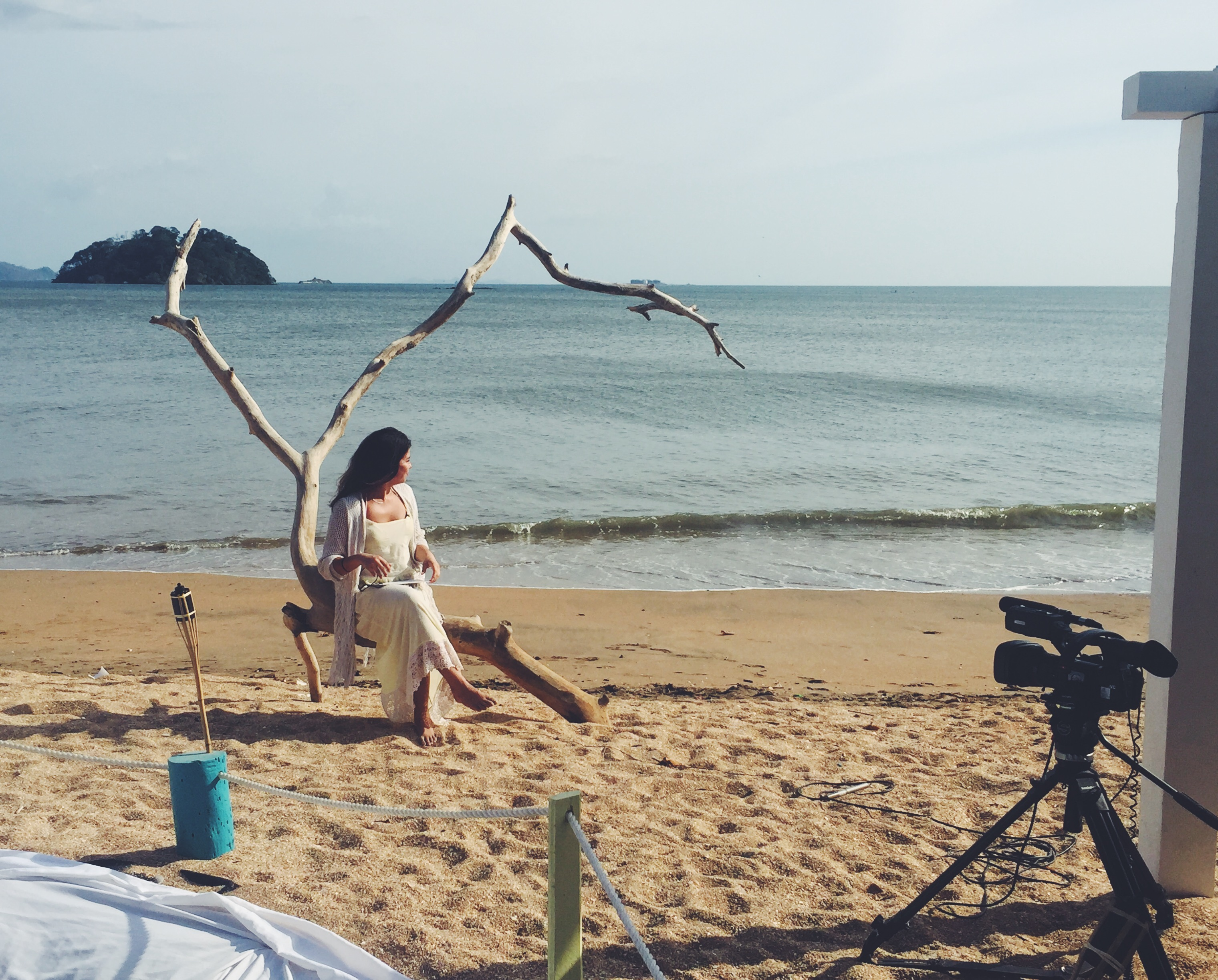 Filming on a Panamanian Beach