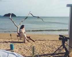 Filming on a Panamanian Beach