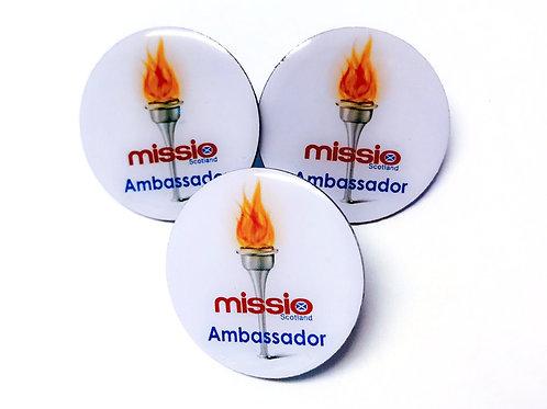 Missio Scotland Ambassador Badges