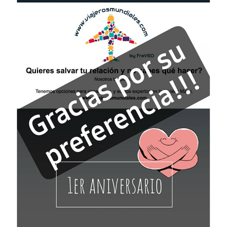 1er Aniversario!!! 1st Aniversary!!!