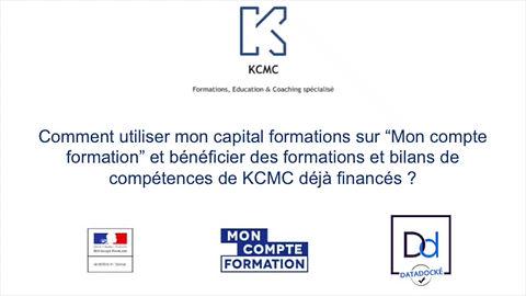 Mon compte formation KCMC formations Bilan de compétences