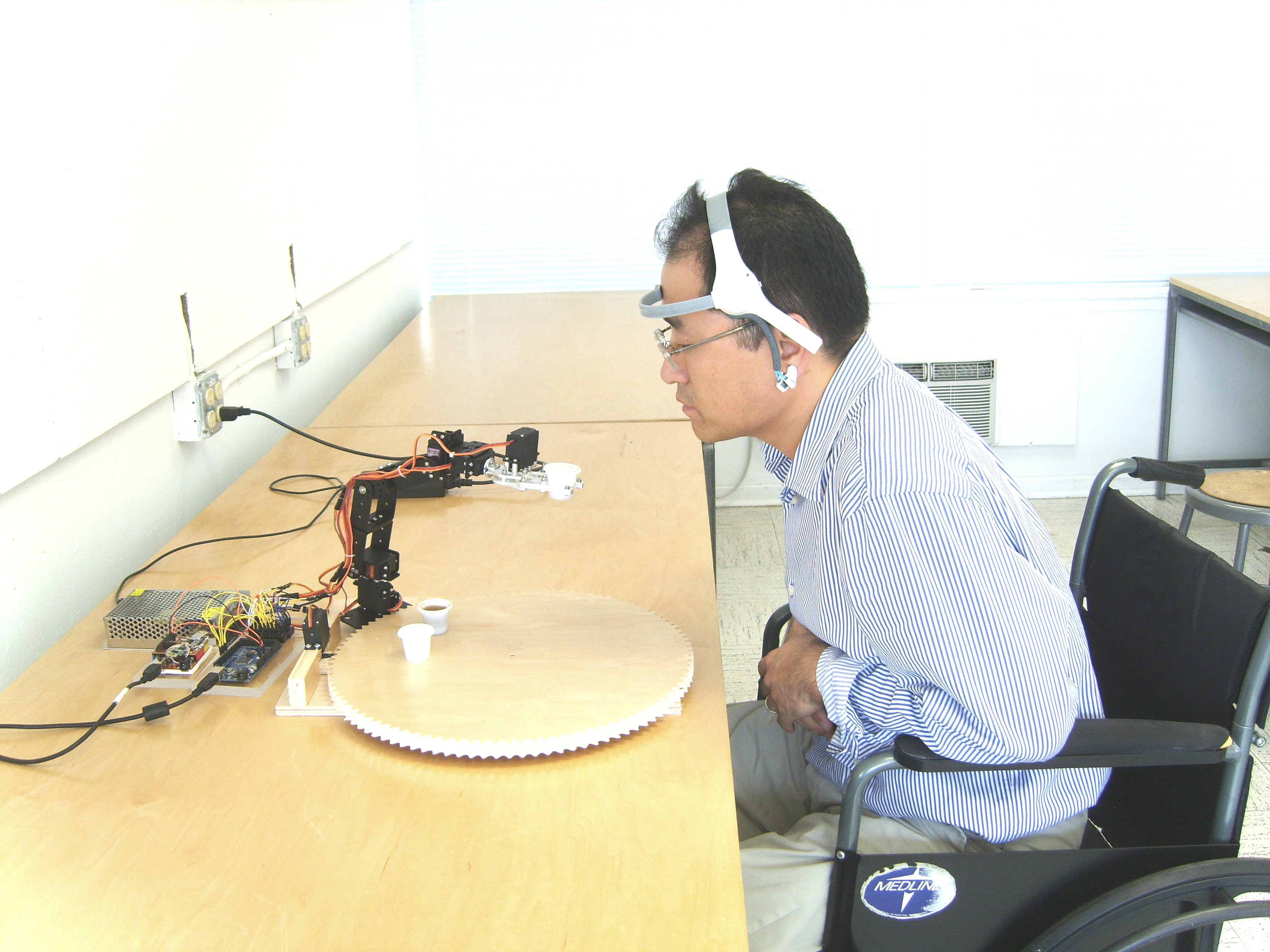 Brain Controlled Assistive Robotics