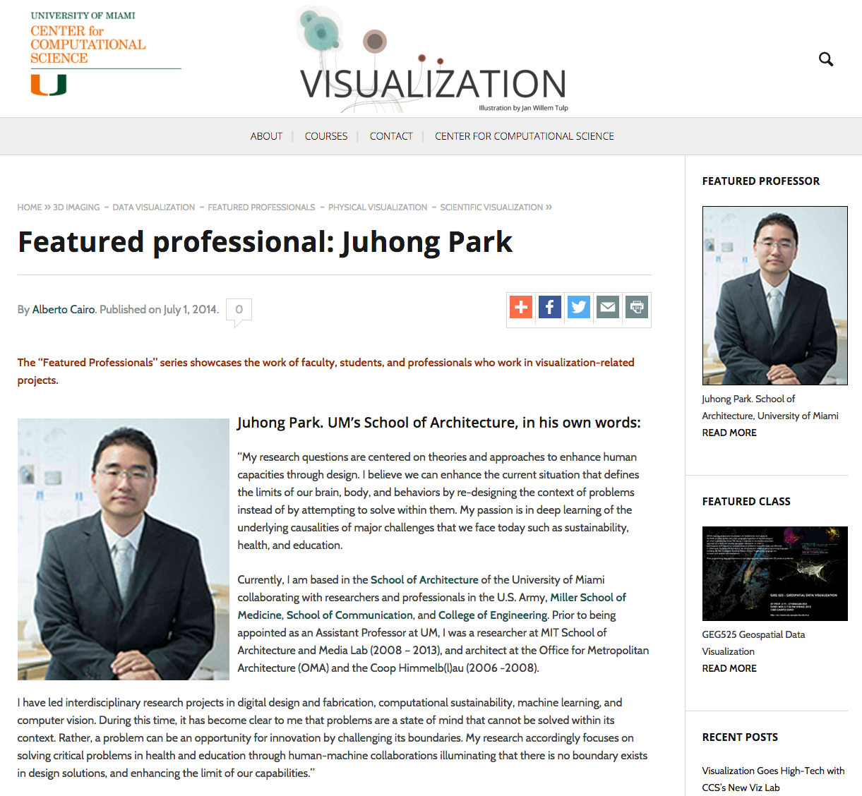 Featured Professionals: J. Park