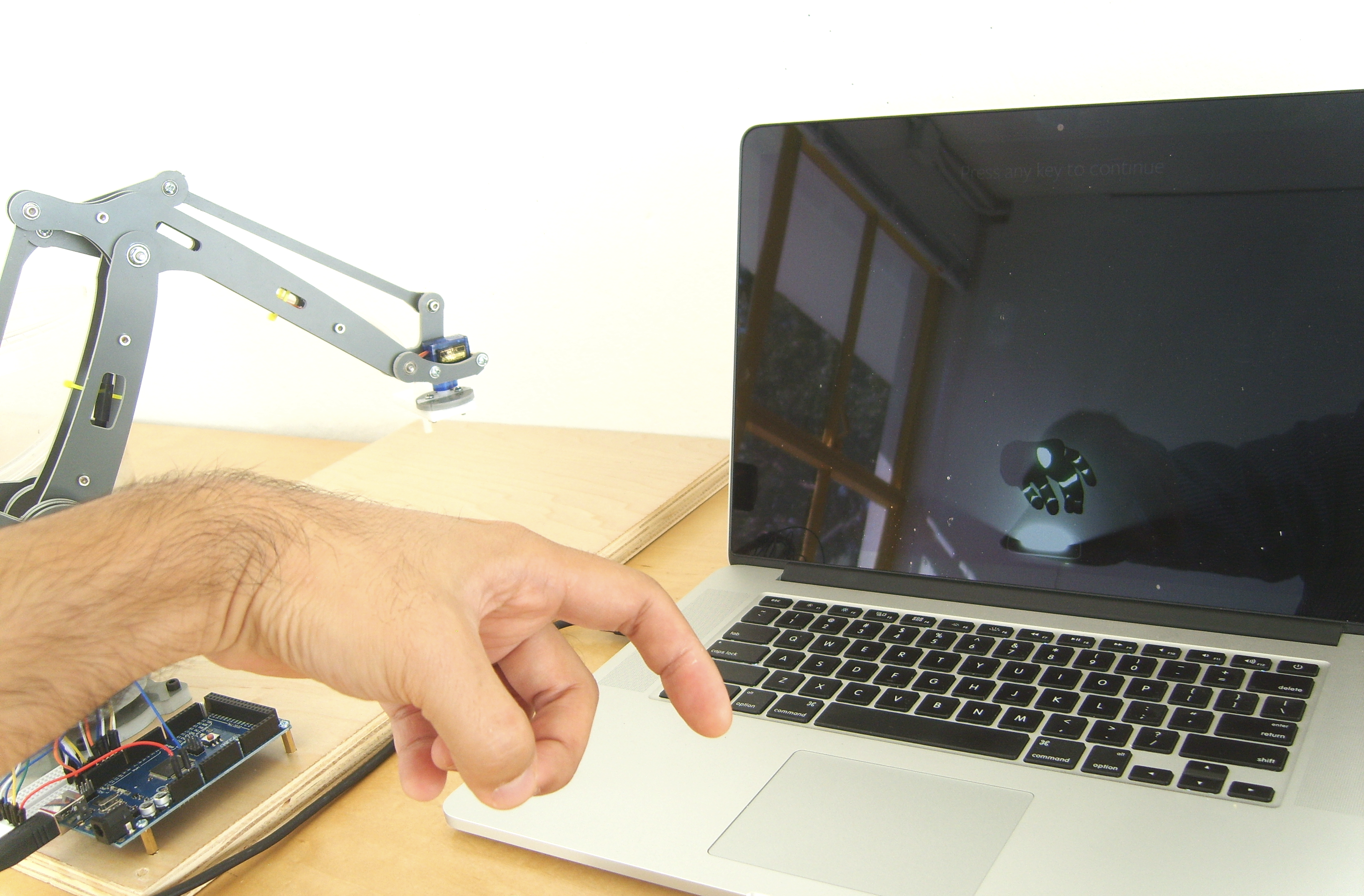Gesture-based Robot Arm Control