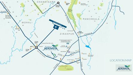 Location Map Of Aerovista Zirakpur Mohal