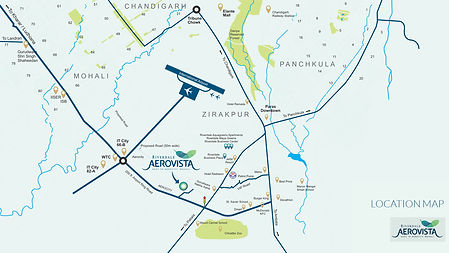Location Map Of Aerovista Zirakpur Mohal