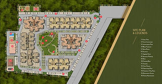 master plan of highland park flats in zirakpur 2bhk in zirakpur