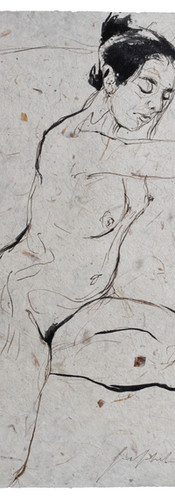 penseel - bister - inkt nepalees papier