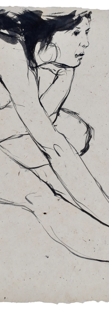 penseel - inkt nepalees papier
