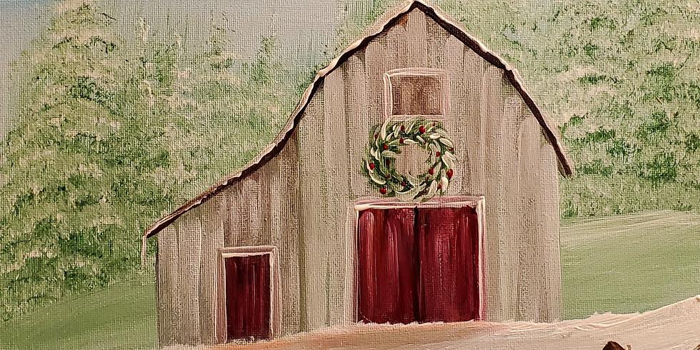 Winter Barn Paint Class