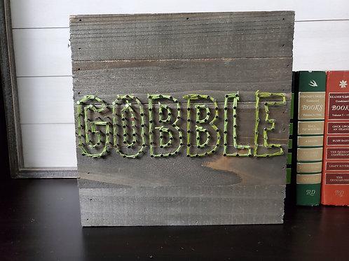 Gobble String Art Sign