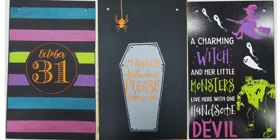 Halloween Chalk Boards