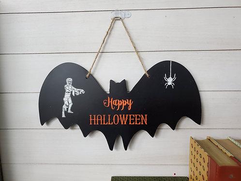 Happy Halloween Bat Wall Hanging