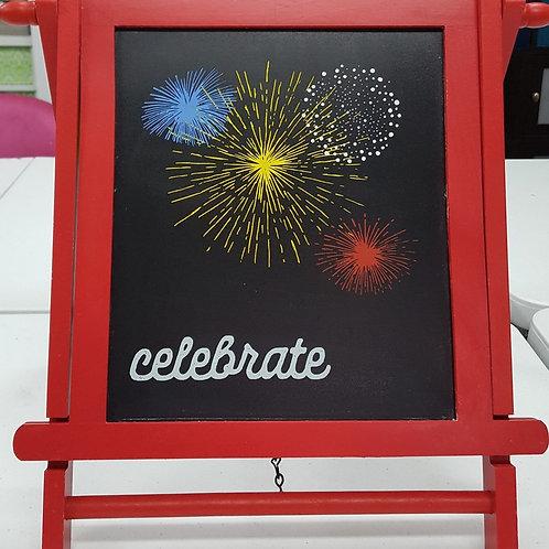 Celebrate Chalkboard Easel