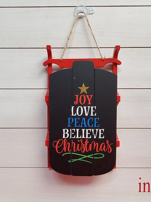 Christmas Chalkboard Sled