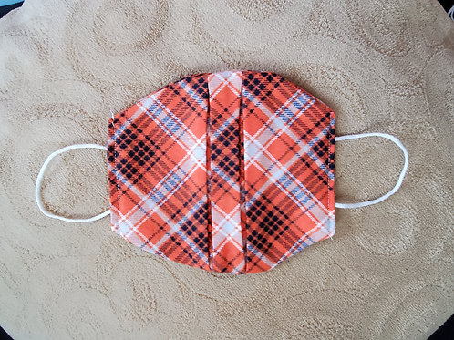 Orange/Navy Plaid Mask