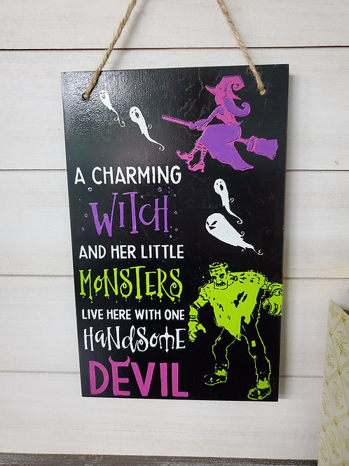 Witch Monster Devil Wall Hanging