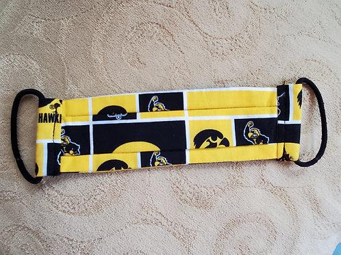 Iowa Hawkeye Mask with black bands