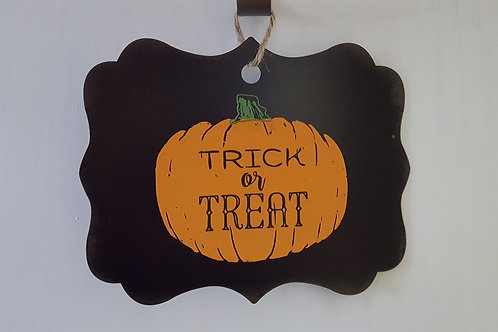 Trick or Treat Metal Wall Hanging