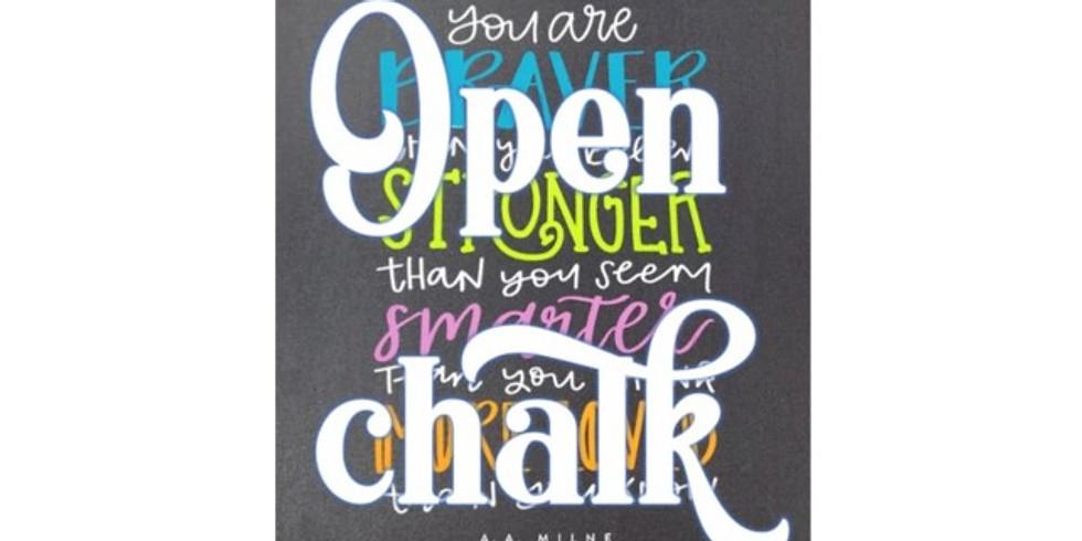 Open Chalk Night 2/12