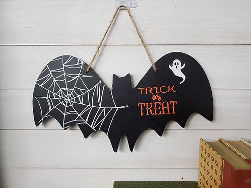 Trick or Treat Bat Wall Hanging