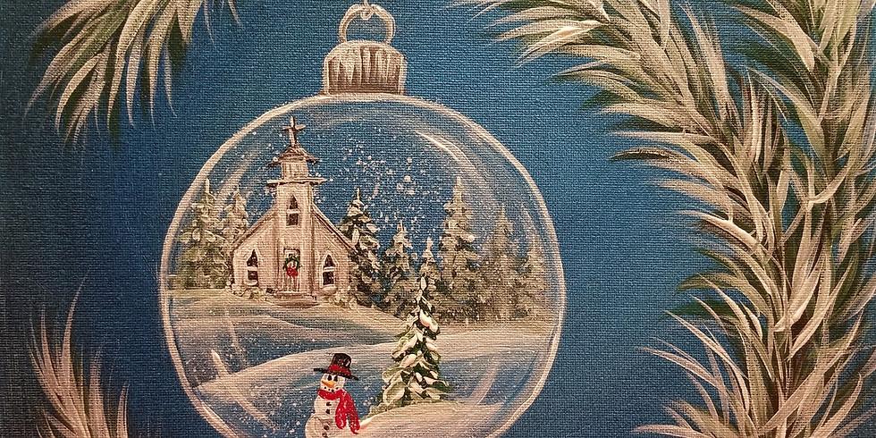 Winter Church Ornament Painting 2